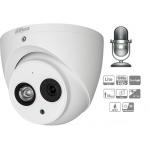 Caméra Dahua 2MP HDCoax multi-format, microphone intégré, jusqu'à -40°C