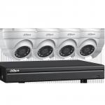C544E42 Ensemble Dahua DVR 4K à 4 canaux et 4 caméras sphériques de 4 MP et disque dur de 2 To