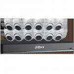 C7165E124 Ensemble Dahua DVR 4K (8MP) à 16 canaux et 12 caméras sphériques de 5 MP et disque dur de 4 To / Garantie 3 ans