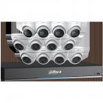 C7168E124 Ensemble Dahua DVR 4K à 16 canaux avec 4 caméras sphériques 4K, 8 caméras sphériques de 5 MP et disque dur de 4 To / Garantie 3 ans