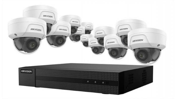 Ensemble 4K NVR 16 canaux PoE avec 12 caméras IP 4MP avec HDD 4TB