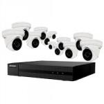Ensemble 4K Hikvision à 16 canaux avec 12 caméras réseaux de 4MP, HDD 4To