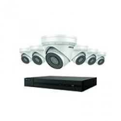 Ensemble IP 4K Hikvision à 8 canaux avec 6 caméras IP de 4MP, HDD 2To