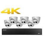 ENM-08KIT6-40IRBFT Ensemble WatchNET IP à 8 canaux avec 6 Caméra 4MP et disque dur 2TB / Garantie 3 ans