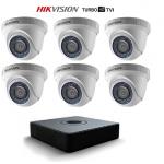 T7108Q2TA Ensemble Hikvision TurboHD 8CH / HDCoax / 6 caméras 1080P 2MP / 2TB HDD / Garantie 3 ans
