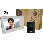 """JOS-1A2 Interphone de sécurité avec 2 écrans de 7"""", poste de porte à montage en surface"""