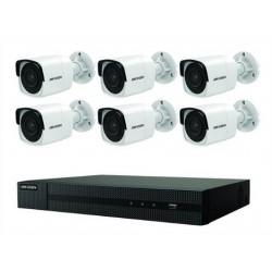 Ensemble Hikvision 4K NVR à 8 canaux avec 6 caméras 4K (8mp) et HDD 2TB inclus.