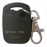 KTAG – Badge porte-clés noir CDVI ( 25 unités )