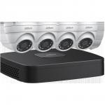 N444E42 Ensemble Dahua IP NVR 4K à 4 canaux avec 4 caméras sphériques de 4MP et disque dur de 2 To / Garantie 3 ans