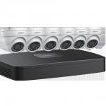 N484E62 Ensemble Dahua IP NVR 4K (8MP) à 8 canaux avec 6 caméras sphériques de 4MP et disque dur de 2 To / Garantie 3 ans
