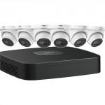 N484E62S Ensemble Dahua IP NVR 4K (8MP) à 8 canaux avec 6 caméras sphériques de 4MP et disque dur de 2 To / Garantie 3 ans