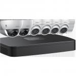 N488D63 Ensemble Dahua IP NVR 4K (8MP) à 8 canaux avec 2 caméra-dôme 4K (8MP) + 4 caméras sphériques de 4MP et disque dur de 3 To / Garantie 3 ans