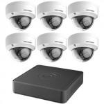 T7108Q2TB Ensemble Hikvision HD Coax 8 canaux et 6 caméras de 2 MP avec disque dur de 2 To / Garantie 3 ans