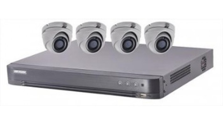 Ensemble Hikvision TurboHD à 4 canaux avec 4 caméras analogique de 5MP et disque dur 1To.