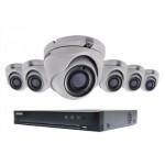 Ensemble Hikvision TurboHD à 8 canaux avec 6 caméras analogique de 5MP et disque dur 2To.