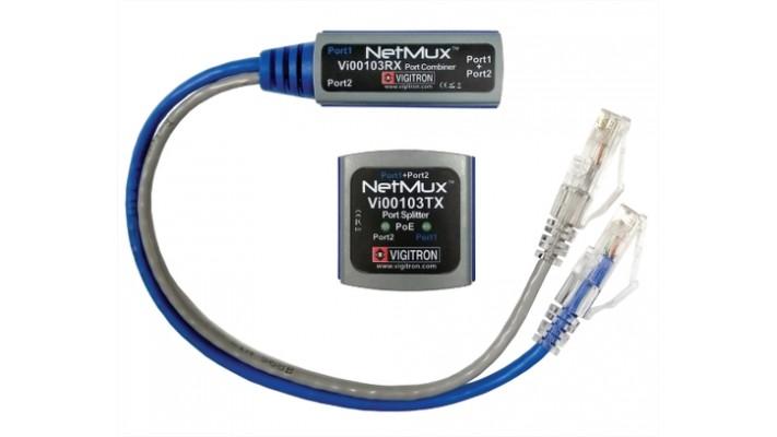 Multiplexer de ports Ethernet et PoE Netmux